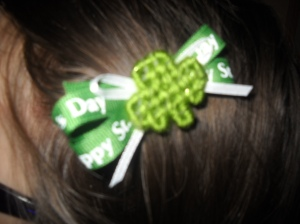 shamrock barrette hairbow