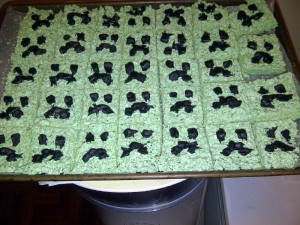 creeper rice crispy treats